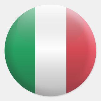 Flagga av italien runt klistermärke