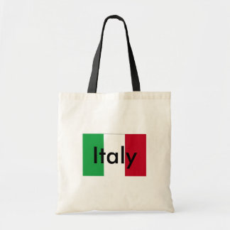 Flagga av italienbudgettotot budget tygkasse