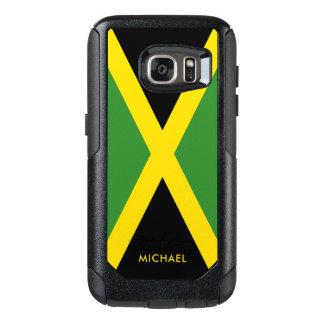 Flagga av Jamaica med personlignamn OtterBox Samsung Galaxy S7 Skal