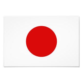 Flagga av Japan Fototryck