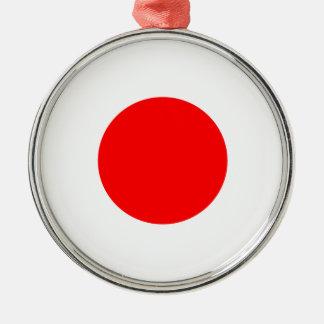 Flagga av Japan Julgransprydnad Metall