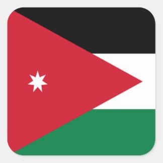 Flagga av Jordanien Fyrkantigt Klistermärke