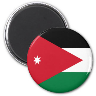 Flagga av Jordanien Magnet Rund 5.7 Cm