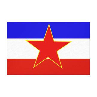 Flagga av Jugoslavien Canvastryck