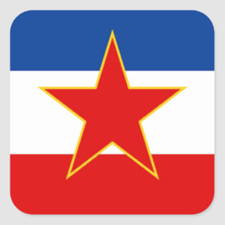 Flagga av Jugoslavien Fyrkantigt Klistermärke