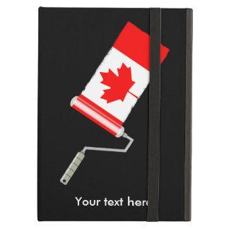 Flagga av Kanada målar rullen iPad Air Skydd
