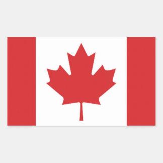 Flagga av Kanada Rektangulärt Klistermärke