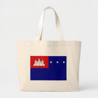 Flagga av Khmerrepubliken (សាធារណរដ្ឋខ្មែរ) Jumbo Tygkasse