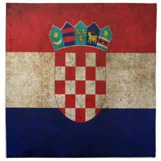 Flagga av Kroatien Tygservett