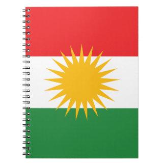 Flagga av kurdistanen (den Alay kurdistanen eller Antecknings Böcker