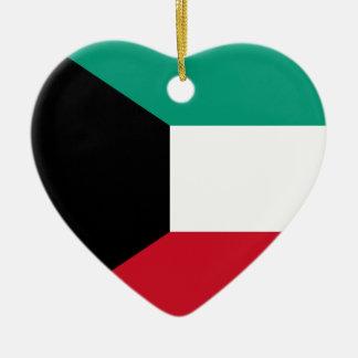 Flagga av Kuwait Julgransprydnad Keramik
