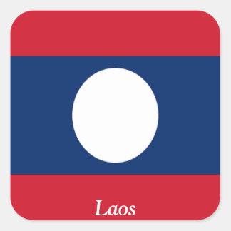 Flagga av Laos Fyrkantigt Klistermärke