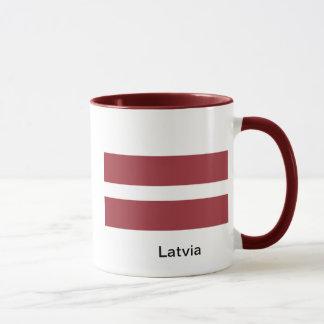 Flagga av Lettland Mugg