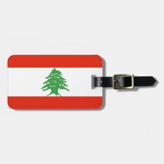 Flagga av Libanon Bagagebricka