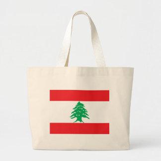 Flagga av Libanon Jumbo Tygkasse