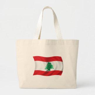 Flagga av Libanon Tygkassar