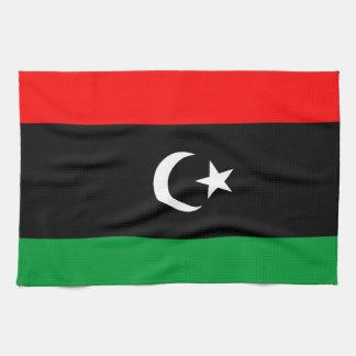Flagga av Libyen Handhandukar