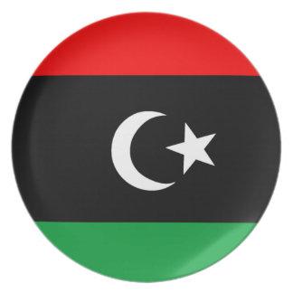 Flagga av Libyen Tallrik