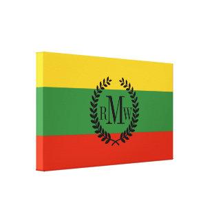 Flagga av Litauen Canvastryck