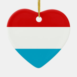 Flagga av Luxembourg Julgransprydnad Keramik