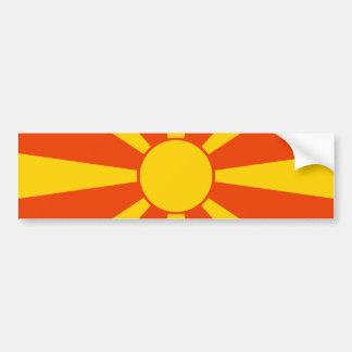 Flagga av Makedonien Bildekal