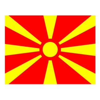 Flagga av Makedonien Vykort