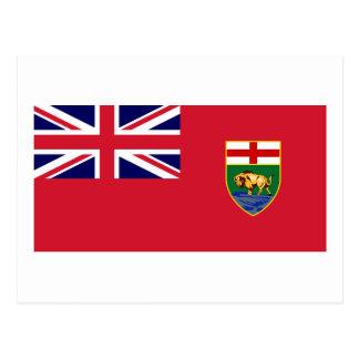 Flagga av Manitoba, Kanada Vykort