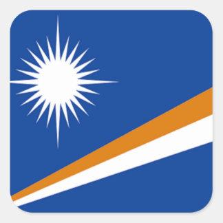 Flagga av Marshallöarnan Fyrkantigt Klistermärke