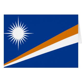 Flagga av Marshallöarnan Hälsningskort