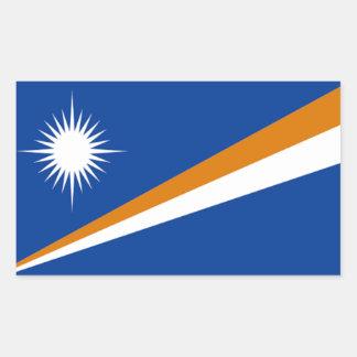 Flagga av Marshallöarnan Rektangulärt Klistermärke