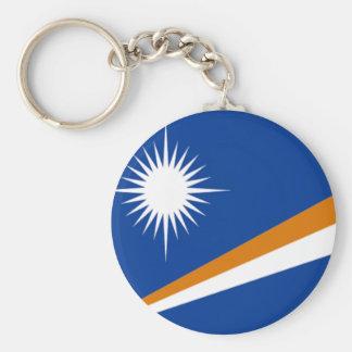 Flagga av Marshallöarnan Rund Nyckelring