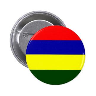 Flagga av Mauritius Standard Knapp Rund 5.7 Cm