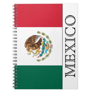 Flagga av Mexico Anteckningsbok