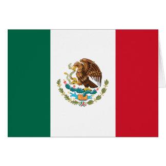 Flagga av Mexico Hälsningskort