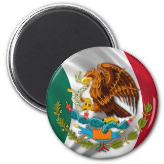 Flagga av Mexico, vapensköld Magnet