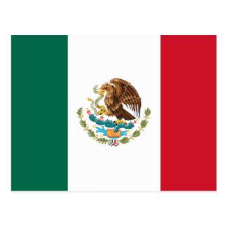 Flagga av Mexico Vykort