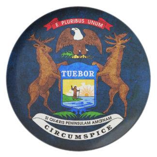 Flagga av Michigan Tallrik