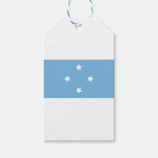 Flagga av Mikronesiska federationen Pack Av Presentetiketter