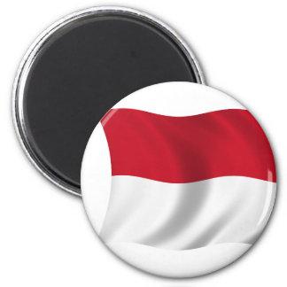 Flagga av Monaco Magnet
