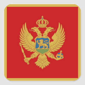Flagga av Montenegro Fyrkantigt Klistermärke