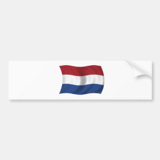 Flagga av Nederländerna Bildekal