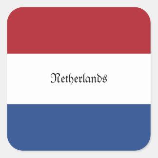Flagga av Nederländerna Fyrkantigt Klistermärke