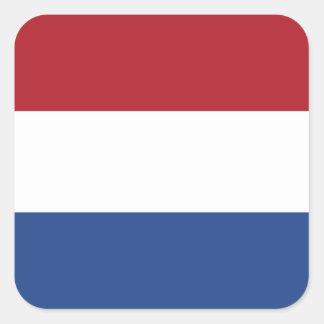 Flagga av Nederländerna kvadrerar klistermärken