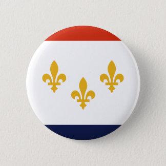 Flagga av New Orleans, Louisiana Standard Knapp Rund 5.7 Cm