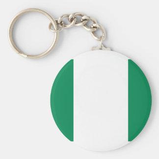 Flagga av Nigeria Keychain Rund Nyckelring