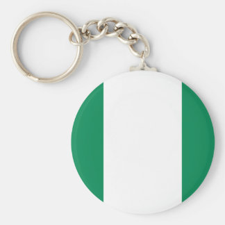 Flagga av Nigeria Rund Nyckelring