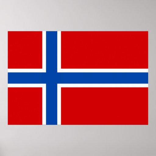 Flagga av norgen print