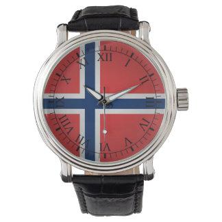 Flagga av norgen armbandsur