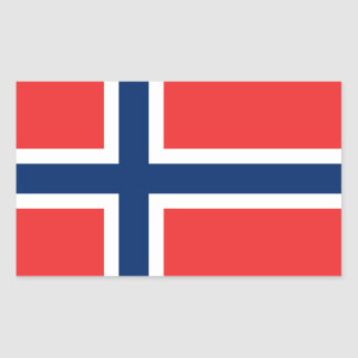 Flagga av norgen rektangelformade klistermärken