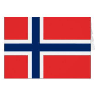 Flagga av norgen hälsningskort